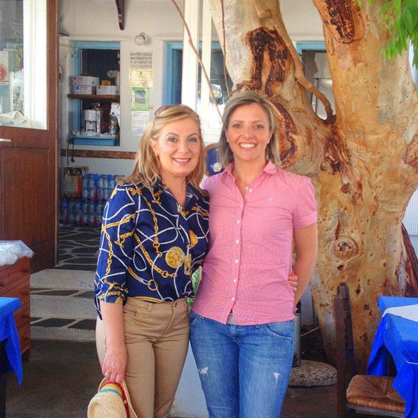 """Ντίνα Νικολάου για την εκπομπή """"Ένα τραπέζι Ελλάδα"""" Οκτώβριος 2015."""